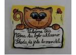 015-Cedulka na dveře-kočka-vtipná
