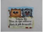 014-Cedulka na dveře-pes a kočka-vtipná